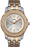 Timex Women's STYLE T2N148 Silver Two-tone Stainless-Steel Quartz Watch with Silver Dial