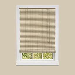 Genesis Home Ashland Oval Indoor & Outdoor Roll Up Blinds Window Shade (36x72, Desert/Almond) - 2 PACK