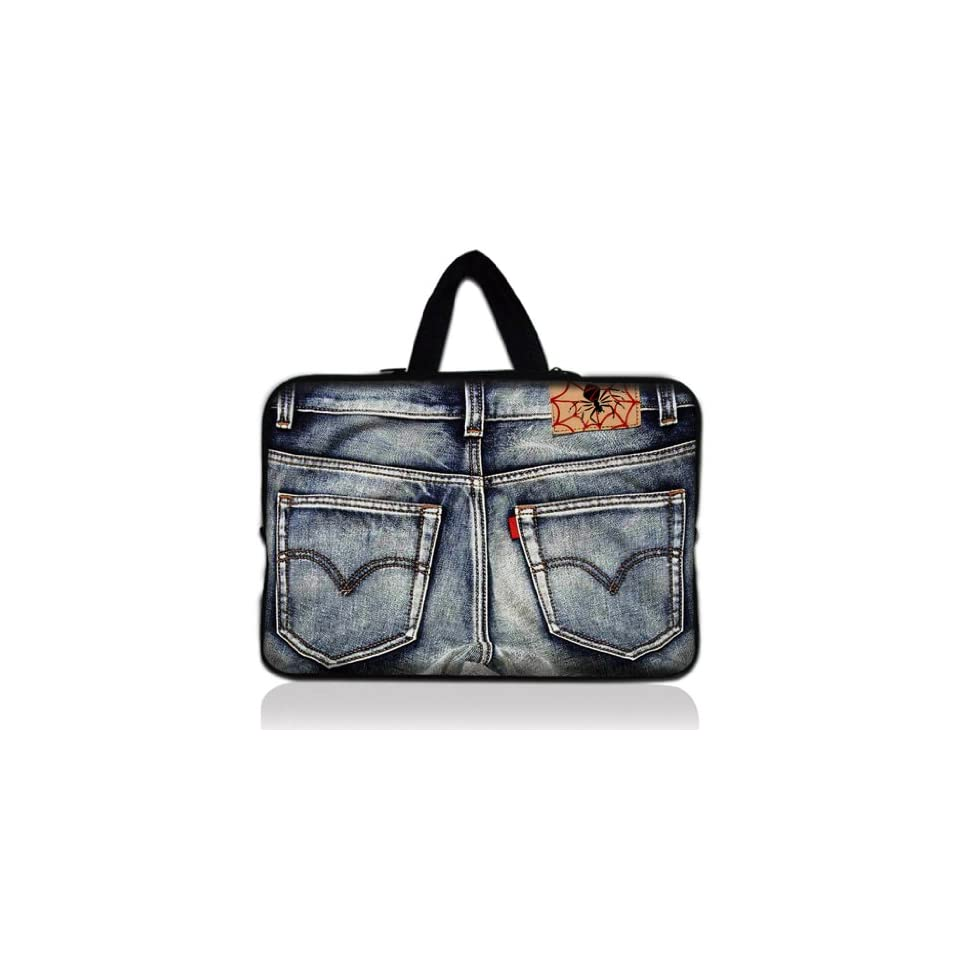 9.7 10 10.1 10.2 inch Laptop Netbook Tablet Case Sleeve Carrying bag with Hide Handle For iPad 2 3/Asus EeePC 10 transformer/Acer Aspire one/Dell inspiron mini/Samsung N145/Toshiba/Kindle DX/Lenovo S205/HP Touchpad Mini 210   Old Jeans N10 18028