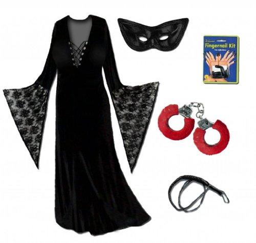 [Sanctuarie Designs Women's Dominatrix Deluxe Kit Plus Size Supersize Halloween Costume Deluxe] (Dominatrix Halloween Costumes)