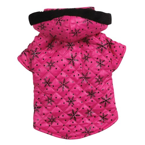 Zack & Zoey Polyester Winter Wonderland Dog Coat, Teacup, Pink