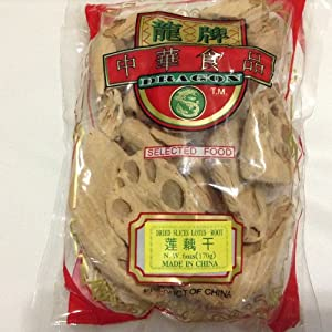 Dried Lotus Root Slices - 6 oz / 170 g - Product of China