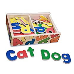 [Best price] Novelty & Gag Toys - Melissa & Doug Magnetic Wooden Alphabet - toys-games