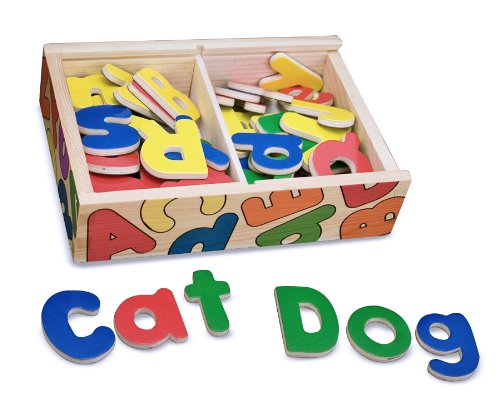 Melissa & Doug Magnetic Wooden Alphabet back-366731