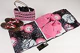 ブランド浴衣(SweetLily)作り帯(日本製)下駄かご巾着4点セットYRB-15