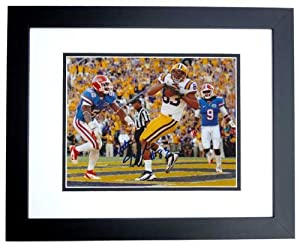 Mitch Joseph Autographed Hand Signed LSU Tigers 8x10 Photo - BLACK CUSTOM FRAME by Real+Deal+Memorabilia