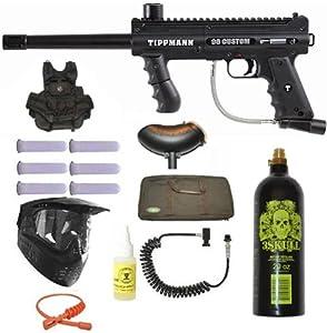 Tippmann 98 Custom Ultra Paintball Marker Gun 3Skull Vest Sniper Set