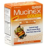 Mucinex Cough For Kids! Expectorant/Cough Suppressant, Mini-Melts, Granule Packets, Orange Creme Flavor, 12 ct.
