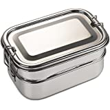 Bare Ware Three Layer Stainless Steel Lunch Box Set - Eco Friendly Food Container Bento with Tray - For Adults and Kids