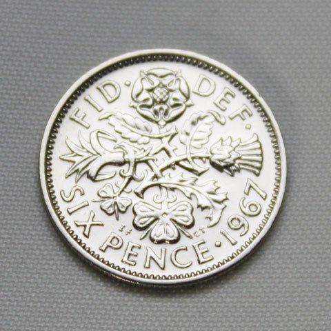 1967年 6ペンス コイン 幸せな結婚のために