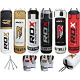 Authentic RDX Heavy Duty Filled Maya Hide Leather Boxing MMA Kickboxing Muay Thai UFC Punch Bag 4FT/5FT