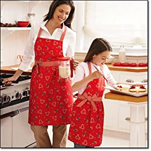 Avon's Christmas Apron * Candy Cane and Hearts * Ladies