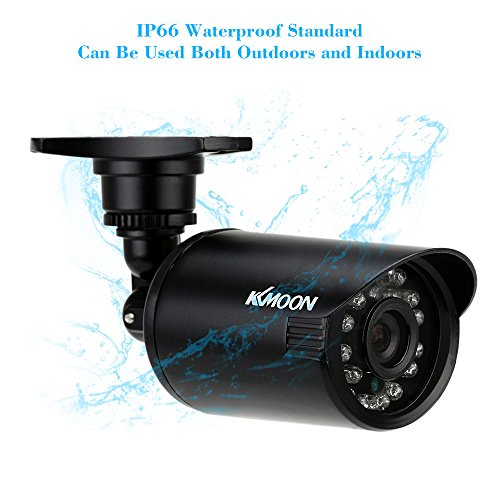 KKMOON 800TVL Telecamera di Sorveglianza Bullet Camera CCTV Impermeabile IR-CUT Visione di Giorno / di Notte Sistema di PAL