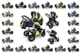 "Clamaro ""LUNO 3in1"" Premium Kinderwagen 3 in 1 Kombi mit"