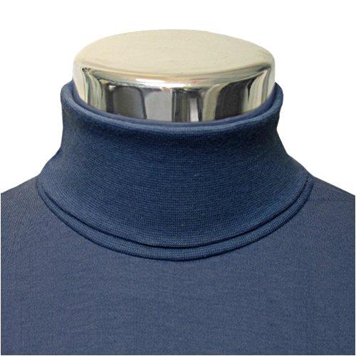 Men's Cotton Navy Polo Neck Sweater