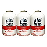 Arctic Freeze (RLS-134T) Refrigerant R-134a with Stop Leak 12 oz (3 Cans)