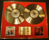 ABBA/DOUBLE CD GOLD DISC/RECORD/DISPLAY/LTD. EDITION/COA/THE ALBUM & THE VISITORS