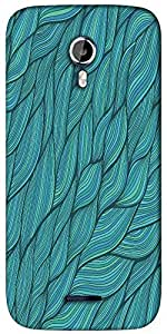 Snoogg seamless waves texture Designer Protective Back Case Cover For Micromax A117