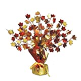 Fall Leaves Gleam N Burst Centerpiece Party Accessory (1 count) (1 Pkg)