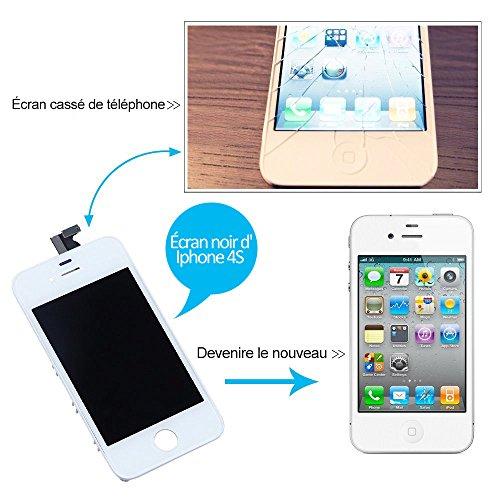 pour iphone 4s ecran lcd noir ecran tactile digitizer assemblee complet blanc avec des outils. Black Bedroom Furniture Sets. Home Design Ideas