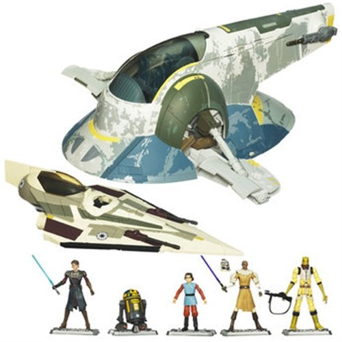 Star Wars Clone Wars Slave 1 and Starfighter