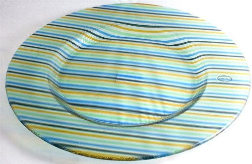 Portmeirion large Carnival Glass 14 inch diameter glass plate Large Carnival Glass