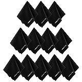 deleyCON PREMIUM Mikrofaser Reinigungstücher - 12 Stück - 19x20cm - Reinigung von Brillen, Kamera-Objektiven, Smartphones, Tablets, Displays