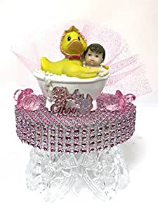 baby shower baby girl with duck cake topper centerpiece