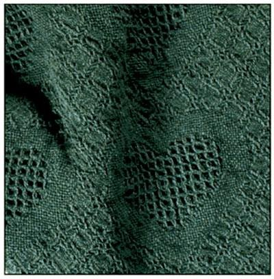 Hunter Green Honeycomb Heart Afghan Throw Blanket 48
