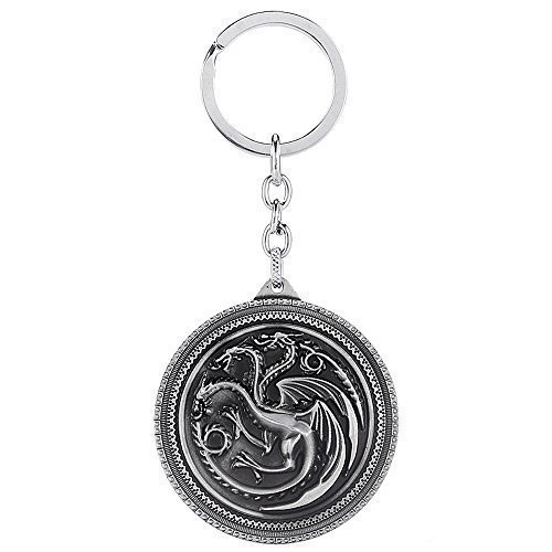 Game of Thrones: House Targaryen Three-headed Dragon Sigil Keychain