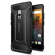 OnePlus 2 Case, Spigen® [Rugged Capsule] Resilient [Black] Rugged Armor Ultimate protection and rugged design with matte finish for OnePlus 2 (2015) – Black (SGP11767)