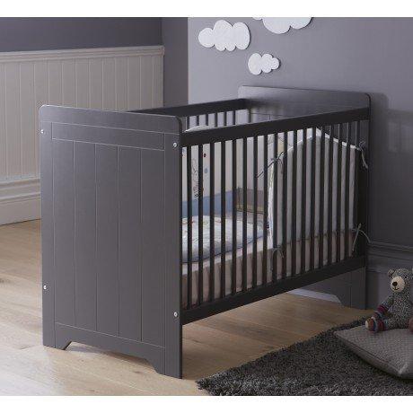 Alfred & Compagnie - Lit bébé barreaux anthracite 60x120