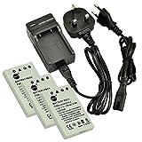 DSTE® (3-pack) EN-EL5 Rechargeable Li-ion Battery + Charger DC12U for Nikon Coolpix P510, Coolpix P520, Coolpix P530, Coolpix P5000, Coolpix P5100, Coolpix P6000, Coolpix S10, Coolpix 3700, Coolpix 4200, Coolpix 5200, Coolpix 5900, Coolpix 7900, Coolpix