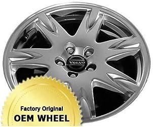 VOLVO 60 SERIES,70 SERIES,80 SERIES 17×7.5 7 SPOKE Factory Oem Wheel Rim- HYPER SILVER – Remanufactured