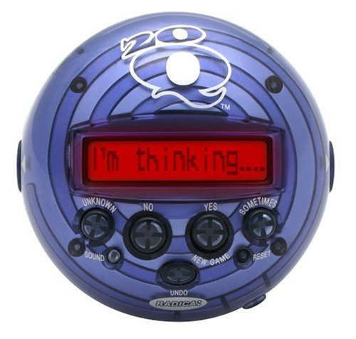 Radica 20Q Artificial Intelligence Game - Colors may vary since the item may come in 3 different colors