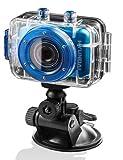 Hyundai Multi Sport Actionkamera  (5,1 cm (2 Zoll) LCD-Display, 5 Megapixel, 2-fach dig. Zoom, microSD-Kartenslot, USB 2.0, mit Auto-, Fahrrad, und Helmhalterung, wasserdichtes Gehäuse ) blau