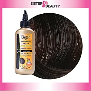 buy darkest brown bigen semi permanent hair color