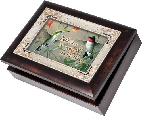 Cottage Garden Hummingbirds Enjoy The Simple Things Italian Style Music Musical Jewelry Box Plays Wind Beneath My Wings