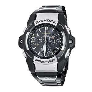 Casio Men's GS1000D-1 G-Shock GIEZ Series Black Metal Band Chronograph Watch