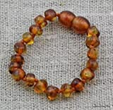 Baltic Amber Baby Teething Bracelet - Honey Amber