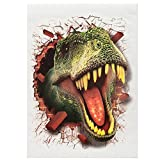 Hot Sale 3D PVC Dinosaur Kids Bedroom Home Decor Window Wall Sticker Jurassic Park Wall Decals Wallpaper (50x70cm)