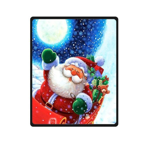 Merry christmas Dreamlike the Santa Claus Fleece Throw Blanket 40 inches x 50 inches