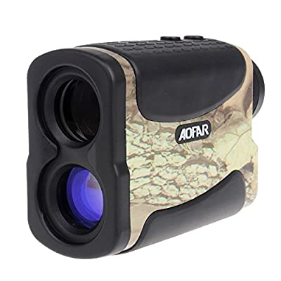Laser Rangefinder for Hunting and Golf, 700 Yards 6X 25mm Range finder with Speed, Scan and Fog measurement by WoSports