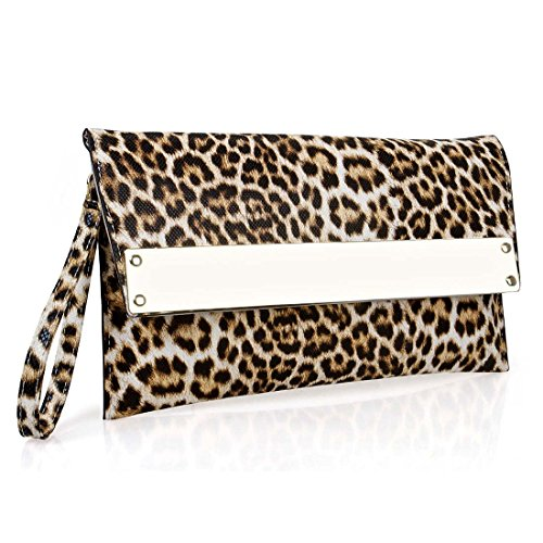 BMC-Womens-Ultra-Thin-Faux-Leather-Mixed-Design-Animal-Print-Clutch-Handbag