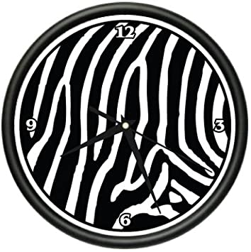 Spectacular ZEBRA Wall Clock animal print home bedroom decor gift