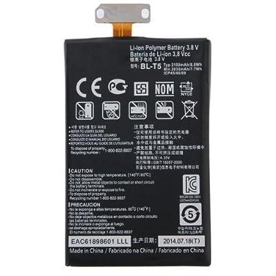 ZWXJ New 2100mAh BL-T5 Battery for Google Nexus 4 E960 LG Optimus G E975 E973 E970 F180 LS970 N4 Replacement Part from ZWXJ