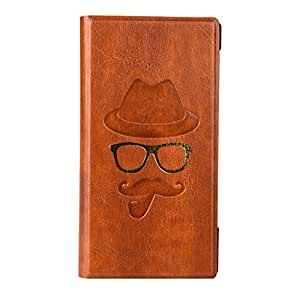 J Cover Moustche Series Cover Leather Pouch Flip Case For Xiaomi Redmi Pro   Light Brown
