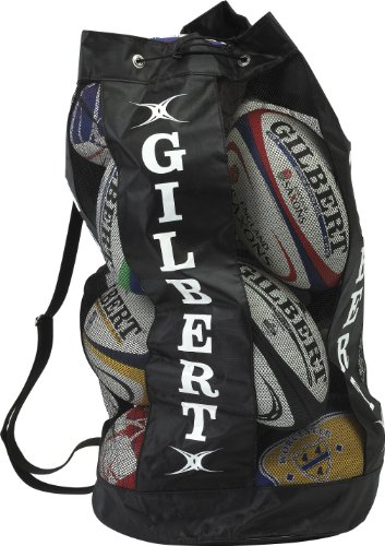 Gilbert Men's Gilbert Rugby Breathable Ball Carrier (Holds 12) - Black