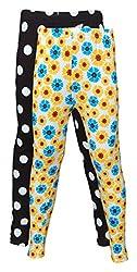 Little Stars Girls' Cotton Regular Fit Leggings- Pack of 2 (Po2Gpl_3203_24, Multi-Colour, 4-5 Years)
