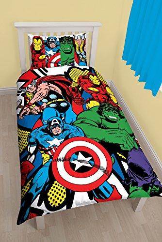 Marvel Comics Kapow Set Copripiumino Letto Singolo Avengers